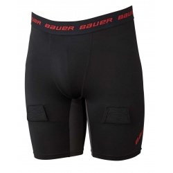 Short Bauer Hockey Essential Compression avec coquille - Promoglace