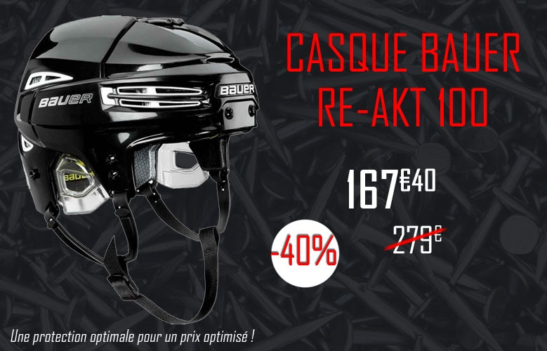 Casque bauer Hockey Re-Akt 100 en promotion - Promoglace